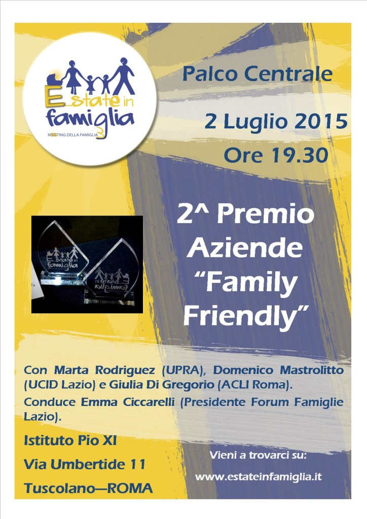 2015 07 02 Premio Aziende Family Friendly